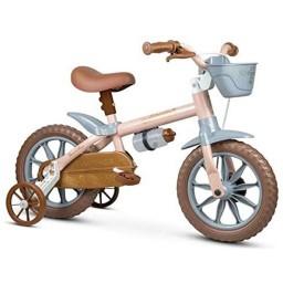 Bicicleta Infantil Nathor Antonella Baby Rosa Aro 12