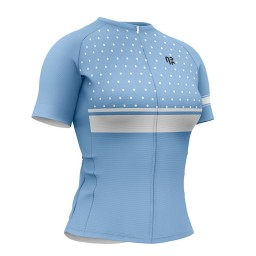 Camisa Ciclismo Feminina AR Sports Gold Calm Blue
