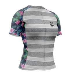 Camisa Ciclismo Feminina AR Sports Gold Flower Blend