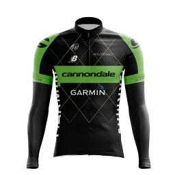 Camisa Ciclismo Manga Longa Pro Tour Garmin Cannondale