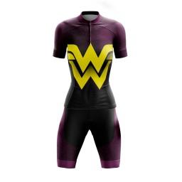 Conjunto Ciclismo Feminino GPX Wonder Roxa