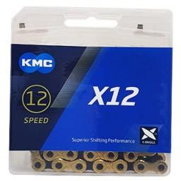 Corrente KMC X12TI 12V Dourada/Preto