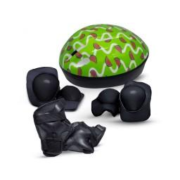 Kit Proteção e Capacete Infantil Rava Melancia
